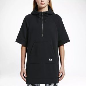 Nike oversized women hoodie modern poncho